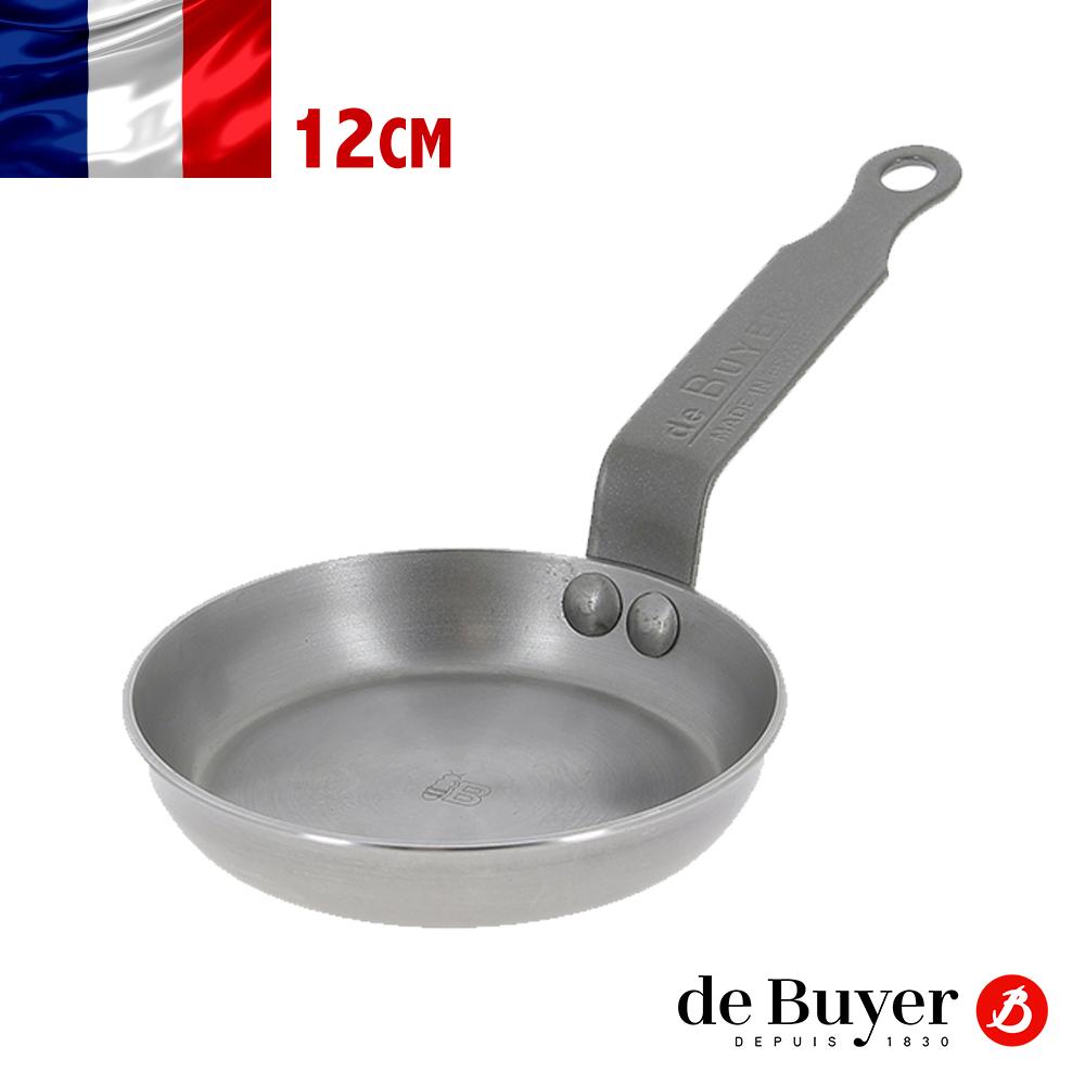 法國~de Buyer~畢耶鍋具~原礦蜂蠟系列~法式迷你鬆餅小煎鍋12cm