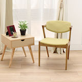 【Jiachu 佳櫥世界】Julie茱莉實木扶手椅/餐椅(共二色)