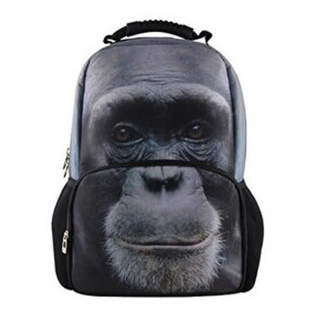 【DOUBLE JJ】立體3D動物15吋電腦後背包(猩猩)
