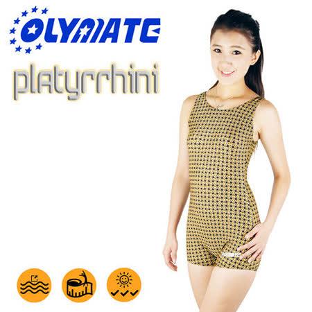 OLYMATE Platyrrhini 專業連身四角女性泳裝