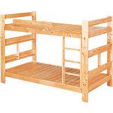 日式量販 楓糖松木實木雙層床