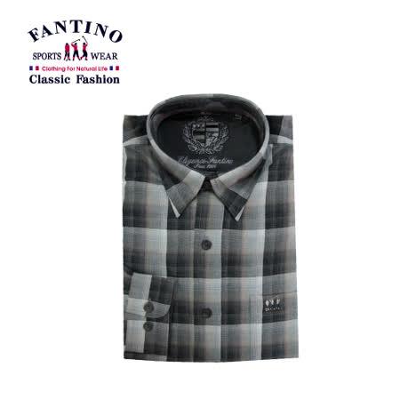 【FANTINO】男裝 法式棉質格紋襯衫 144528