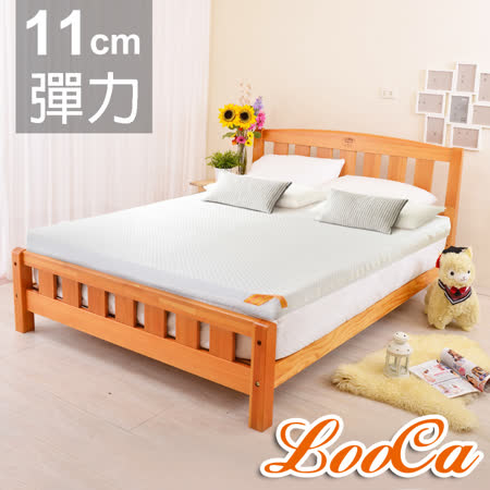 【LooCa】特級天絲11cm彈力記憶床墊(加大)