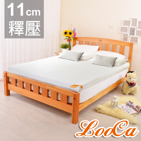 【LooCa】特級天絲11cm頂級記憶床墊(加大)