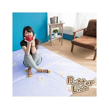 奶油獅 三折記憶聚合收納床墊單人加大 幻紫(3.5尺)