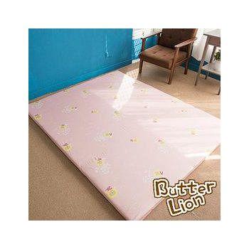 奶油獅 葉語純棉紙纖三合一記憶床墊雙人加大 粉紅(6尺)