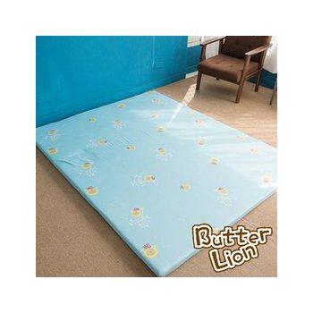 奶油獅 葉語純棉紙纖三合一記憶床墊雙人加大 水藍(6尺)