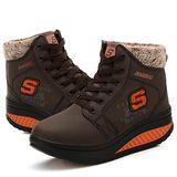 預購-ALicE Y513-0 冬氛必備獨家設計內加厚靴型健走鞋 -咖