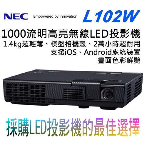NEC L102W 3D高亮無線LED投影機