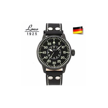 朗坤LACO 德國空軍 夜光防水皮帶 自動機械表男士手錶軍錶 861760