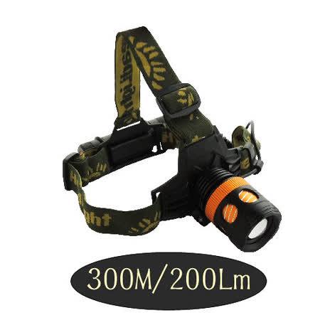 無敵王 旋轉調焦充電式頭燈+手電筒(兩用) LED-Q020