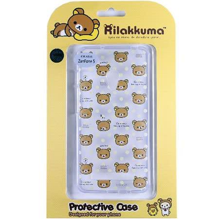 Rilakkuma 拉拉熊/懶懶熊 ASUS ZenFone 5 彩繪透明保護軟套-繽紛大頭熊