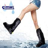 馬靴型反光防雨鞋套(1雙)-下雨天最佳拍檔