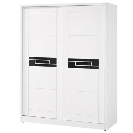 HAPPYHOME 艾蘿亞5尺推門衣櫃093-4可選色