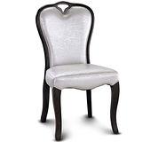 【椅吧】 銀色眩光皮革餐椅