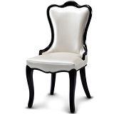 椅吧 宮廷韓風曲線皮革餐椅
