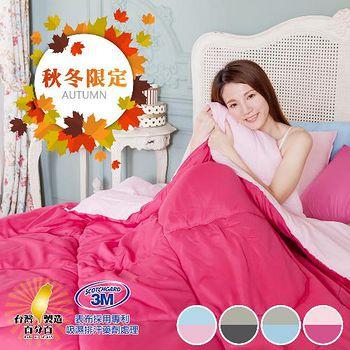 精靈工廠 3M吸濕排汗專利防蹣抑菌雙色天絲被1.3kg(6x7呎) 四色任選(B0901)