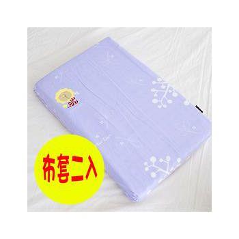 奶油獅 純棉嬰兒趴睡枕/平枕專用布套 幻紫(兩入)