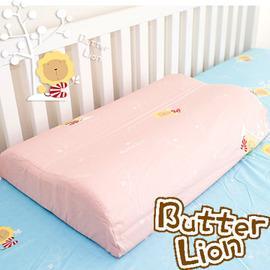 奶油獅 乳膠、記憶工學中枕專用純棉枕頭套 粉紅(兩入)