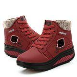 預購-ALicE Y513-6 冬氛必備獨家設計內加厚靴型健走鞋 -紅