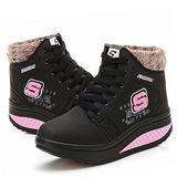 預購-ALicE Y513-9 冬氛必備獨家設計內加厚靴型健走鞋 -黑