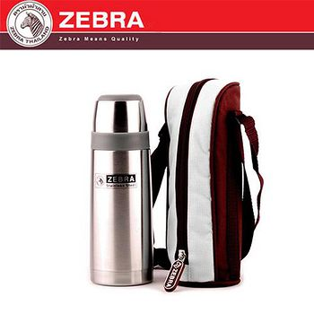 斑馬 ZEBRA 不鏽鋼真空保溫瓶(附袋) 350ml