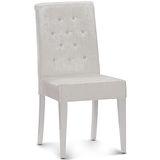 【椅吧】  簡約水讚絨布餐椅(兩色可選)