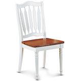 【椅吧】  鄉村復古柚木色實木餐椅