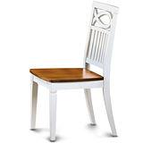 【椅吧】  美式鄉村設計實木餐椅(兩色可選)