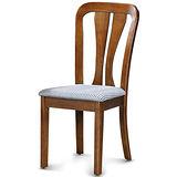 【椅吧】  簡約鄉村風實木布面餐椅