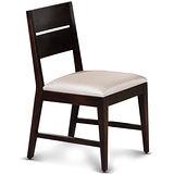 【椅吧】 歐風樸質胡桃色實木皮面餐椅