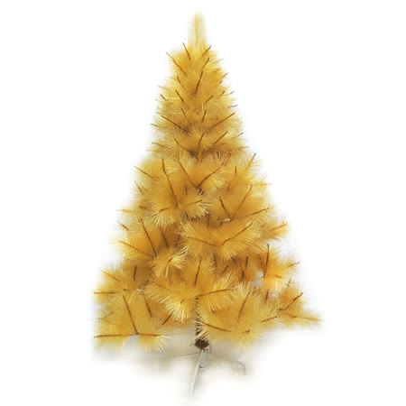 台灣製4尺/4呎(120cm)特級金色松針葉聖誕樹裸樹(不含飾品)(不含燈)