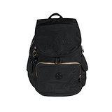 【Kipling】BASIC系列 比利時品牌 前方口袋蓋式後背包 蜂巢黑K-374-2147-051