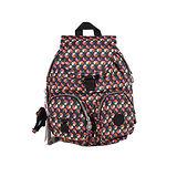 【Kipling】BASIC系列 比利時品牌 前方口袋蓋式後背包 彩色圈圈K-374-2147-060