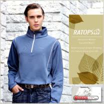 【瑞多仕-RATOPS】男款 Thermolite 長袖保暖衣.半開襟立領衫.休閒衫.吸濕排汗衣/ DB5902 青瓷藍色