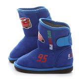 童鞋城堡-Cars閃電麥坤中童帥氣保暖中筒靴544605-藍