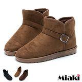 【Miaki】經典時尚保暖平底低筒雪靴 (咖啡 / 黑色 / 棕色)