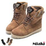 【Miaki】韓版熱銷平底綁帶馬汀靴短靴 (綠色 / 黑色 / 棕色)