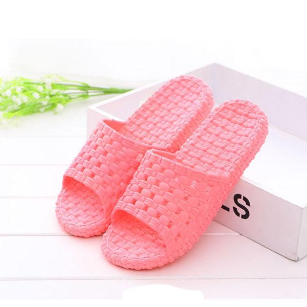 ~PS Mall~浴室防滑厚底塑膠洗澡涼拖鞋 ^(J2245^)
