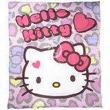 Hello Kitty【摩登豹紋】 暖暖厚毯被