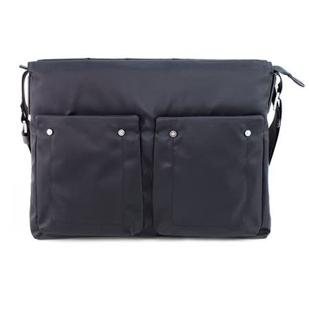 SINA COVA老船長橫式側背包-休閒黑(EB125403)