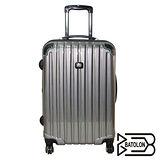 BATOLON 時尚網眼格行李箱20吋-黑灰