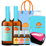 【Morocco GaGa Oil】摩洛哥醫美級秀髮油2入(3款可選)+香水髮油3入組+魔髮梳+原廠提袋