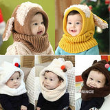 (預購)韓版保暖護耳脖圍套帽