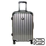 BATOLON 時尚網眼格行李箱24吋-黑灰