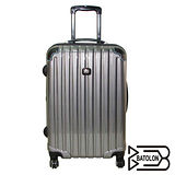 BATOLON 時尚網眼格行李箱28吋-黑灰
