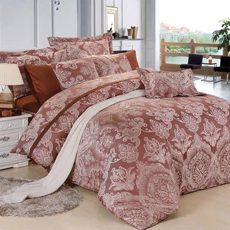 【Betrise】特大絲棉緹花八件式鋪棉兩用被床罩組(歐式宮廷)