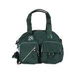 【Kipling】BASIC系列 肩背2用雙口袋機車包 仙人掌綠 K-374-3636-450