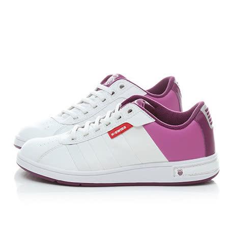 K-SWISS 女款 復古休閒鞋91368-132-白紫