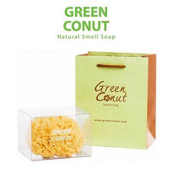 綠果無香天然手工皂 希臘天然蜂巢海綿 (1入)